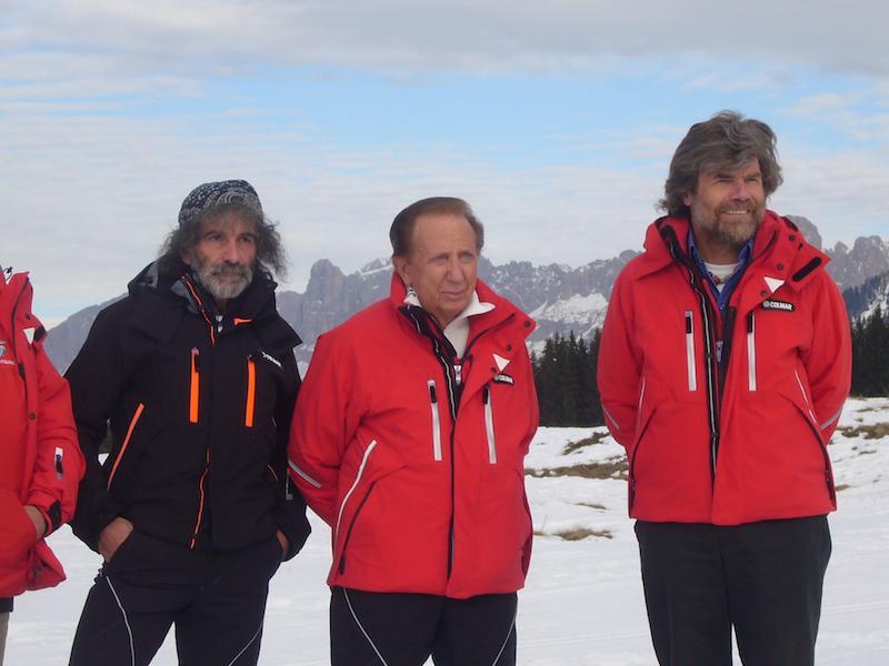 Mauro Corona, Mike Bongiorno e Reinhold Messner
